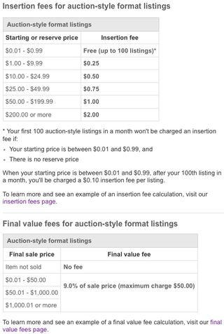 20110315 eBay Auction Fees
