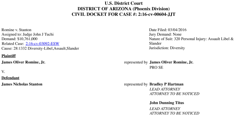 Civil Docket as of 20160923-Header