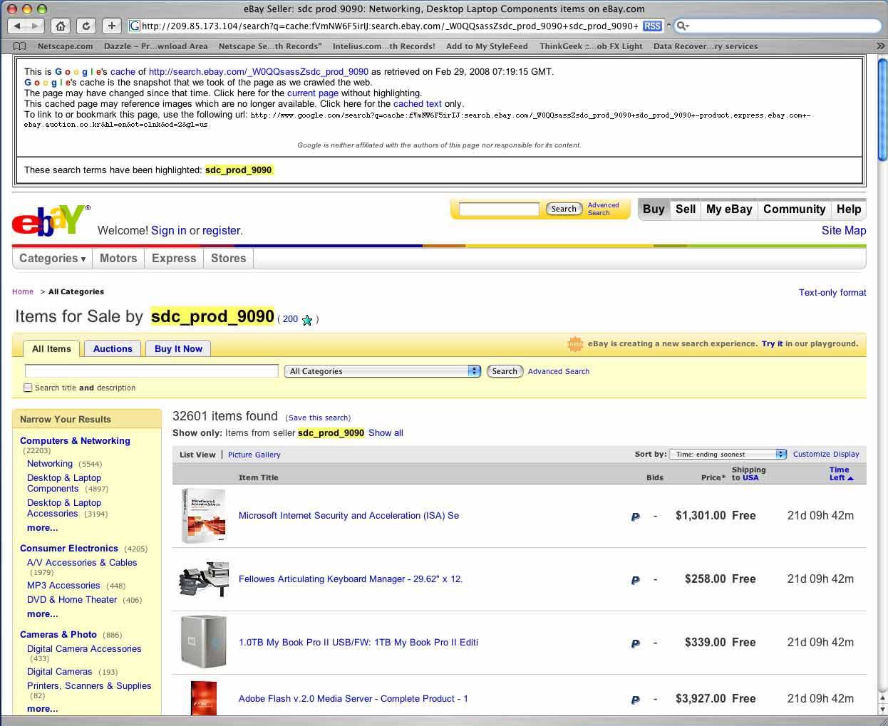 3ffab6003 EventHorizon1984 Log  eBay Search